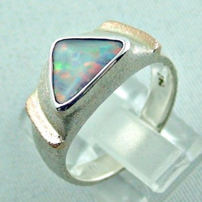 1.05 ct opalring, 9.93 gr silverring, white opal, ladies ring, pic3