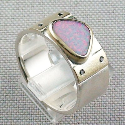 Opalring, 12,48 gr Goldring Silberring mit White Opal 1,66 ct, Bild5