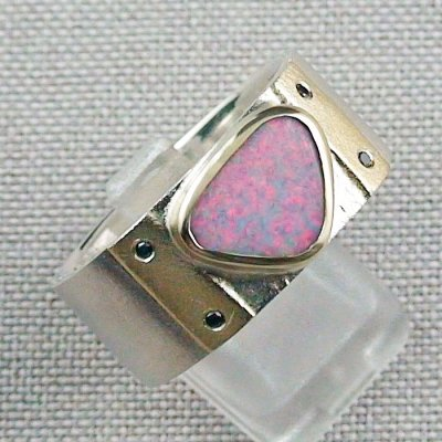 Opalring, 12,48 gr Goldring Silberring mit White Opal 1,66 ct, Bild6