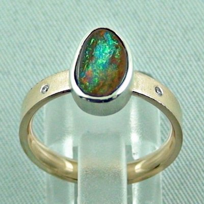 opalring, 8k goldring 4.91 gr. with boulder opal 2.32 ct, pic4