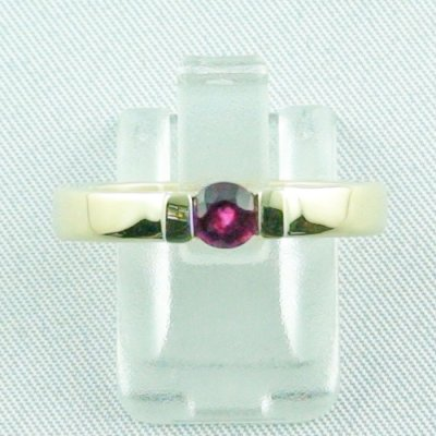 Rubyring, 7.16 gr. goldring with ruby 585 / 14k yellow gold, ladies ring, pic1