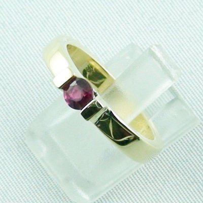 Rubyring, 7.16 gr. goldring with ruby 585 / 14k yellow gold, ladies ring, pic2