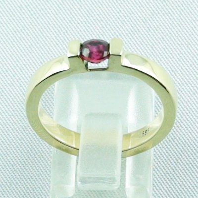 Rubyring, 7.16 gr. goldring with ruby 585 / 14k yellow gold, ladies ring, pic4