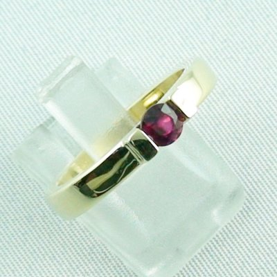 Rubyring, 7.16 gr. goldring with ruby 585 / 14k yellow gold, ladies ring, pic6