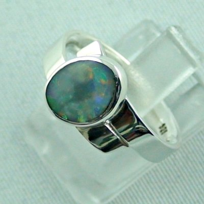 opalring, 4.69 gr silverring with semi black opal 0.93 ct, ladies ring, pic2