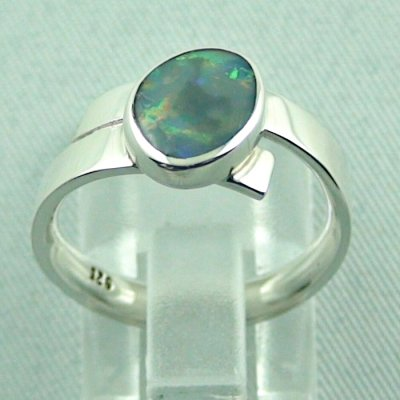 opalring, 4.69 gr silverring with semi black opal 0.93 ct, ladies ring, pic4