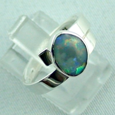 opalring, 4.69 gr silverring with semi black opal 0.93 ct, ladies ring, pic6