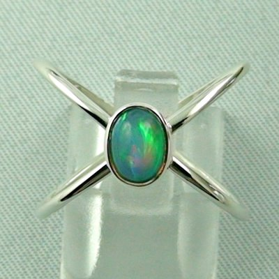 Ladies ring, opalring, 2.86 gr silverring with Welo opal 0.82 ct, pic1