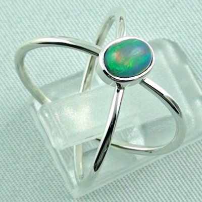 Ladies ring, opalring, 2.86 gr silverring with Welo opal 0.82 ct, pic5