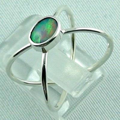 opalring, ladies ring, 2.40 gr silverring with Welo opal 0.50 ct, pic3