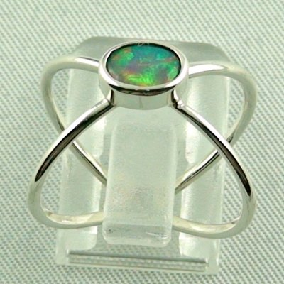 opalring, ladies ring, 2.40 gr silverring with Welo opal 0.50 ct, pic4