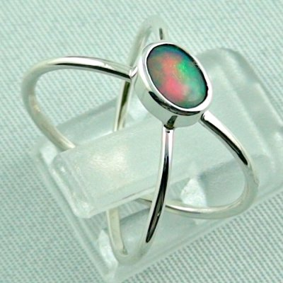 opalring, ladies ring, 2.40 gr silverring with Welo opal 0.50 ct, pic5