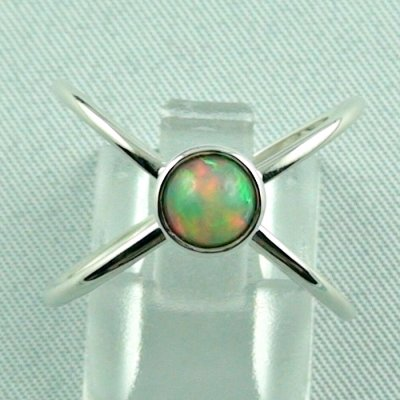 opalring, ladies ring, 2.69 gr silverring with Welo opal 0.78 ct, pic1