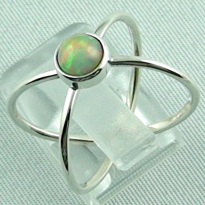 opalring, ladies ring, 2.69 gr silverring with Welo opal 0.78 ct, pic3