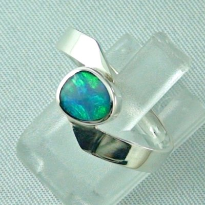 opalring, 3.63 gr silverring with black opal 0.88 ct, ladies ring, pic2