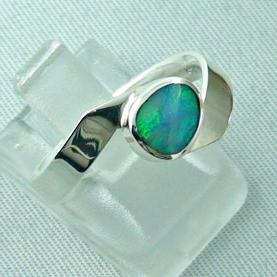 opalring, 3.63 gr silverring with black opal 0.88 ct, ladies ring, pic6