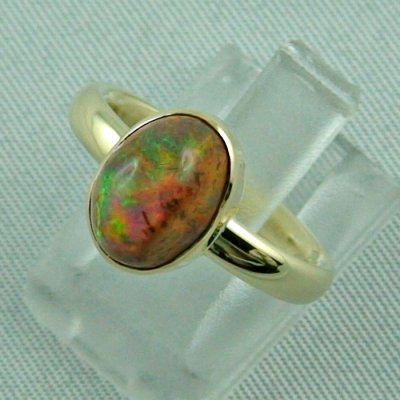 4.96 gr. opalring, 14k / 585 goldring with fire opal, ladies ring, pic2