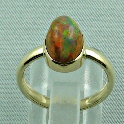 4.96 gr. opalring, 14k / 585 goldring with fire opal, ladies ring, pic4