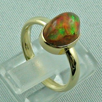 4.96 gr. opalring, 14k / 585 goldring with fire opal, ladies ring, pic5