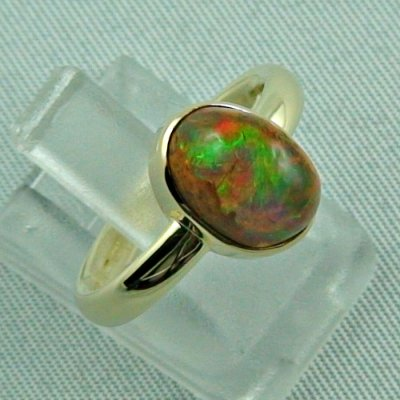 4.96 gr. opalring, 14k / 585 goldring with fire opal, ladies ring, pic6