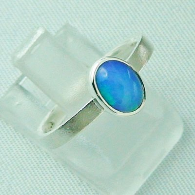 2.49 gr opalring, silver ring with Welo Opal 0.80 ct, pic6