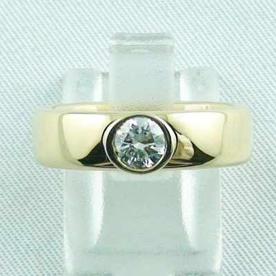 diamondring, goldring with diamond 0.50 ct, 750 or 18k yellow gold, pic1