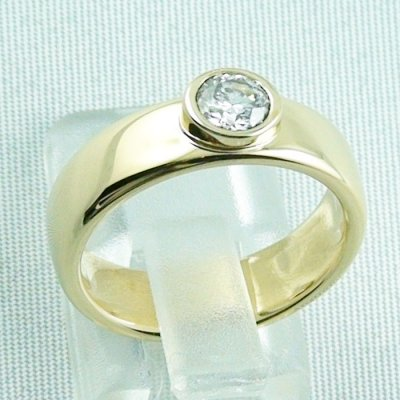 diamondring, goldring with diamond 0.50 ct, 750 or 18k yellow gold, pic4