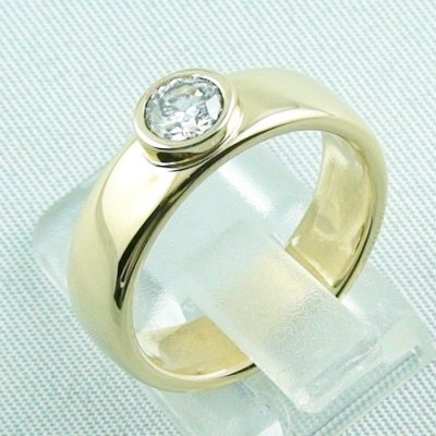 diamondring, goldring with diamond 0.50 ct, 750 or 18k yellow gold, pic3