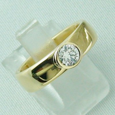 diamondring, goldring with diamond 0.50 ct, 750 or 18k yellow gold, pic6