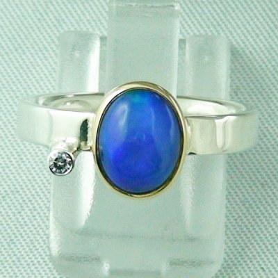 4.65 gr opalring, silver ring women with Welo Opal 1.66 ct, pic1