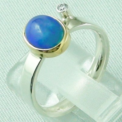 4.65 gr opalring, silver ring women with Welo Opal 1.66 ct, pic3