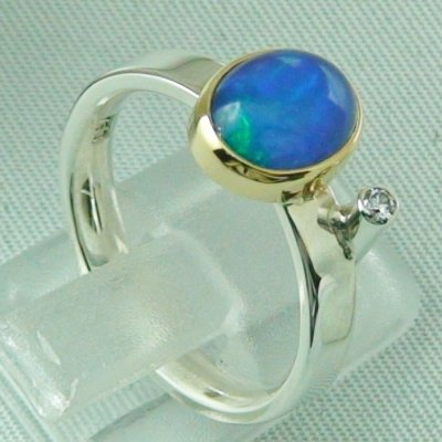 4.65 gr opalring, silver ring women with Welo Opal 1.66 ct, pic5