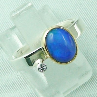 4.65 gr opalring, silver ring women with Welo Opal 1.66 ct, pic6