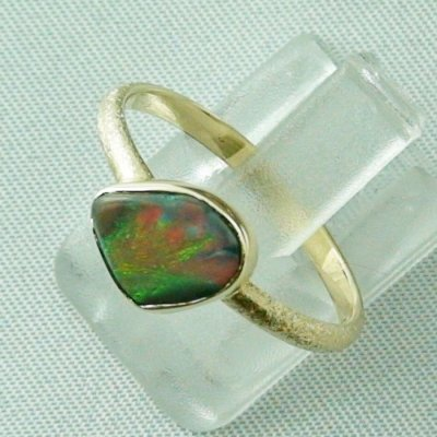 Opalring, 2.49 gr. goldring 14k with semi black opal 0.86 ct, pic5