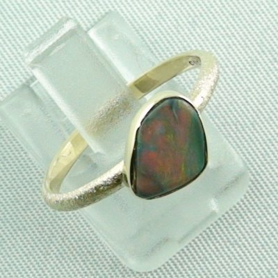 Opalring, 2.49 gr. goldring 14k with semi black opal 0.86 ct, pic1