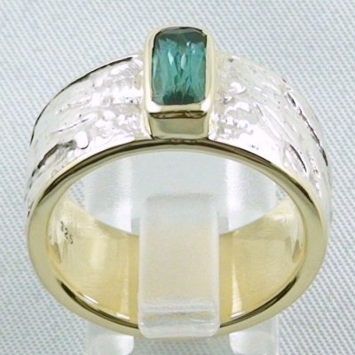 15.43 gr tourmalinering, gold ring or silver ring with tourmaline 1.25 ct, pic4