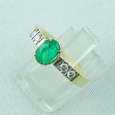 Emeraldring, goldring with emerald 585 / 14k yellow gold 4.94 gr, pic2