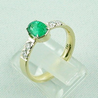 Emeraldring, goldring with emerald 585 / 14k yellow gold 4.94 gr, pic3