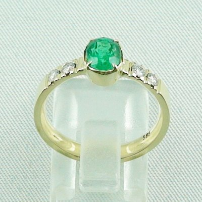 Emeraldring, goldring with emerald 585 / 14k yellow gold 4.94 gr, pic4