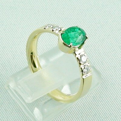 Emeraldring, goldring with emerald 585 / 14k yellow gold 4.94 gr, pic5