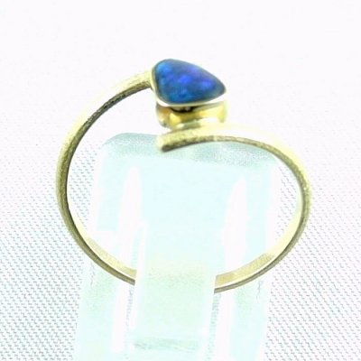 2.33 gr opalring, 18k / 750 goldring with 0.40 ct Black Opal, pic4