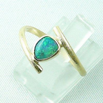Opalring, 2.69 gr. goldring 18k with Black Crystal Opal 0.64 ct, pic2