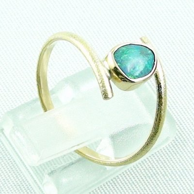 Opalring, 2.69 gr. goldring 18k with Black Crystal Opal 0.64 ct, pic5