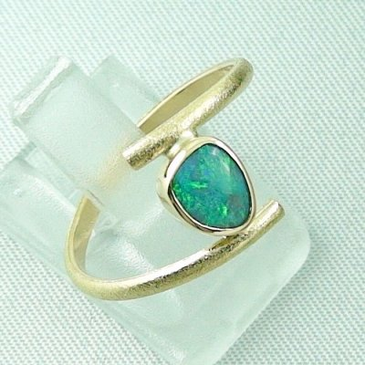 Opalring, 2.69 gr. goldring 18k with Black Crystal Opal 0.64 ct, pic6