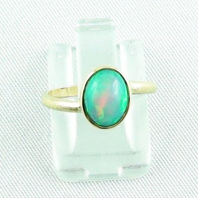 2.38 gr opalring, 18k / 750 goldring with 1.26 ct Welo Opal, pic1