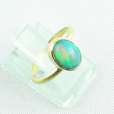 2.38 gr opalring, 18k / 750 goldring with 1.26 ct Welo Opal, pic6