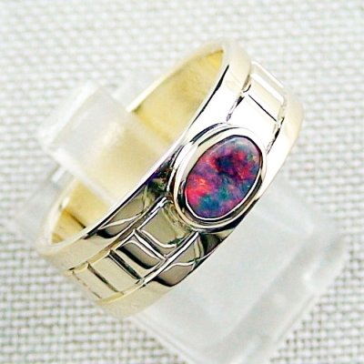 10.10 gr 14k gold ring, opalring with 0.72 ct Top Black Opal, pic6