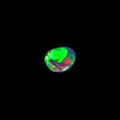 0.48 ct Black Opal gemstone 7.29 x 5.87 x 1.86 mm, pic3