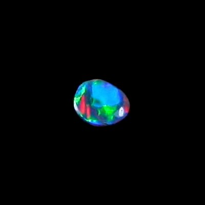 0.48 ct Black Opal gemstone 7.29 x 5.87 x 1.86 mm, pic5