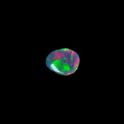 0.48 ct Black Opal gemstone 7.29 x 5.87 x 1.86 mm, pic6